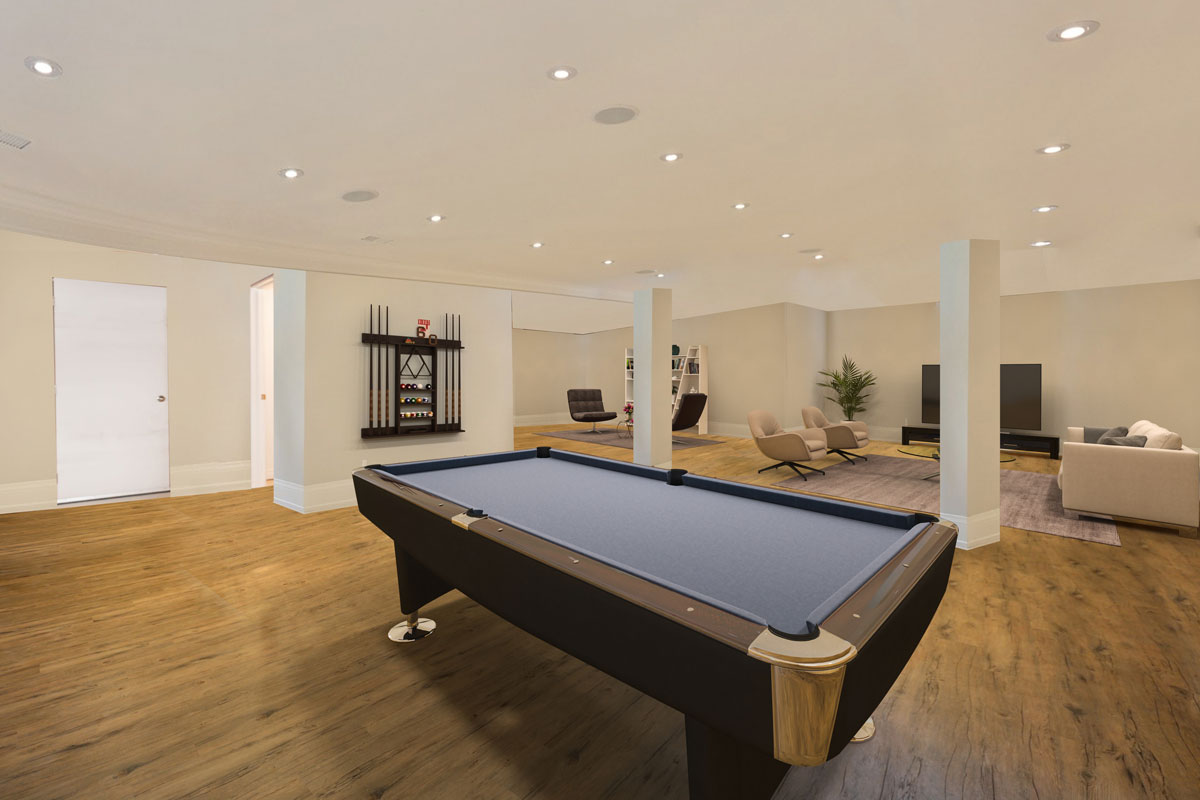 After Virtual Staging Basement