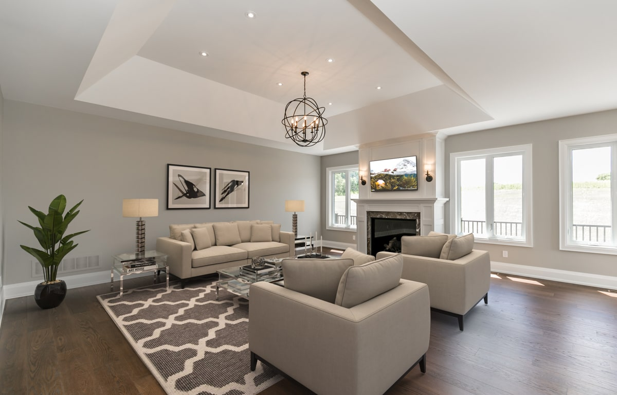 After Virtual Staging Living Room
